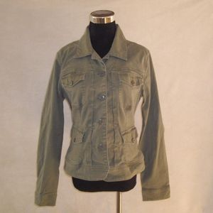 Lucky Brand Army Green Jacket, Pockets